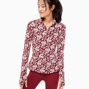 So Foxy Floral Athleisure Moisture Wicking Jacket
